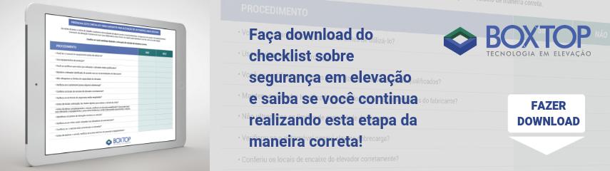Download checklist sobre segurança em elevação